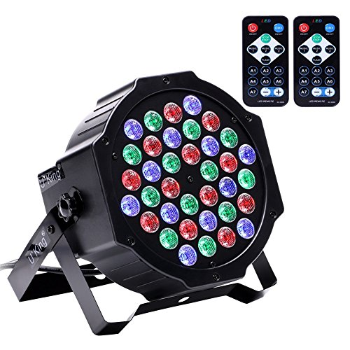 U`King Stage Lighting with RGB 36 LED Par Lights by IR Remote and DMX Control