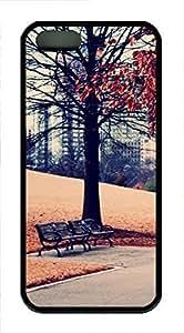 iPhone 5 5S Case Landscapes park TPU Custom iPhone 5 5S Case Cover Black