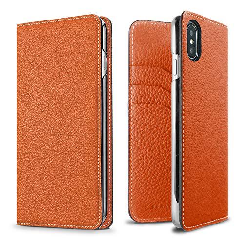BONAVENTURA - German leather diary type for iPhone 6s Plus / 6 Plus - Orange