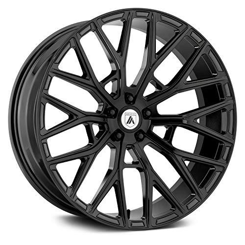 ASANTI BLACK ABL-21 LEO Gloss Black Wheel (22 x 9. inches /5 x 74 mm, 32 mm Offset)