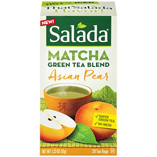 (Salada Asian Pear Matcha Green Tea Blend, 20 Tea Bags (Pack of 6))