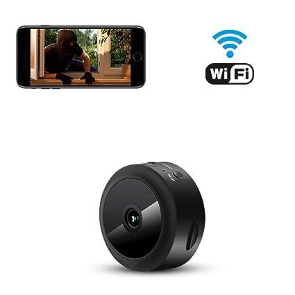 Espía Cámara Oculta AOBO 1080P HD Mini WiFi Cámara Portátil Interior/Exterior Cámara IP Seguridad
