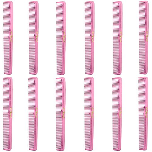 Barber Beauty Hair Cleopatra 400 All Purpose Comb (12 Pack) 12 x SB-C400-NPINK