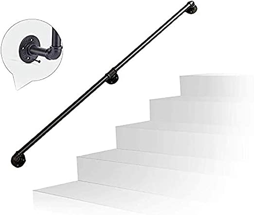 Escalera Barandilla Barandilla, Rail Kit de Soporte 30~120cm Barra de sujeción, Toallas, Hierro Forjado Tubo de Escalera Baranda de Uso en los pasillos, rampas o escaleras (Size : 60cm): Amazon.es: Hogar