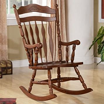 Amazing Amazon Com Traditional Wood Rocking Chair Made Of Solid Onthecornerstone Fun Painted Chair Ideas Images Onthecornerstoneorg
