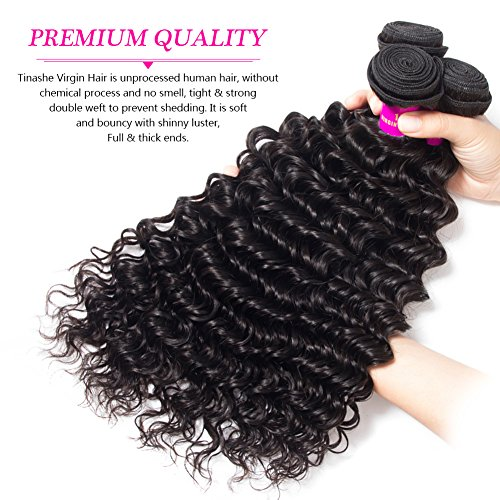 Amazon.com : Tinashe Virgin Hair Brazilian Deep Wave with Frontal ...