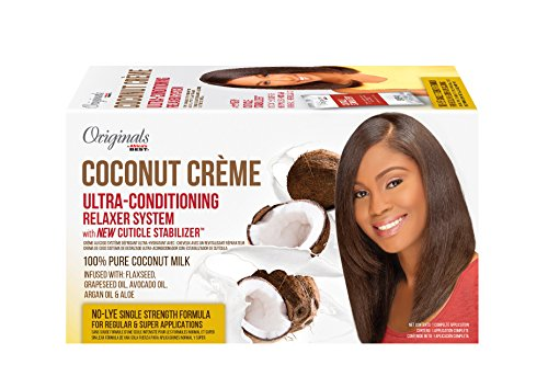 Originals By Africa's Best Coconut Creme Ultra-Conditioning Relaxer System, 1.19 Pound (Pack of 4) -