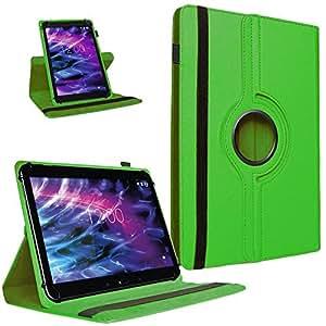Medion Lifetab P10506 P10505 S10366 S10365 S10352 S10351 Funda de tablet para teléfono de alta calidad, funda universal con función atril, combina protección y diseño en color negro, piel sintética, universal, selección de colores