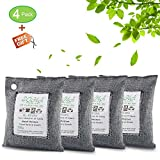 SOHA Fresh Air Nature Fresh, Natural Fresh Bag Absorbs Odors, Allergens And Harmful Pollutants, Charcoal Bag Charcoal Bags For Odors, Home, Cars, Shoes And Closets, Air Purifying Bag 200G 4Pack