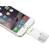 HIOTECH USB 3.0 Lightning i-Flash Driver HD U Disk Memory Card Reader for iPhone/iPad/iPod Touch 64G (Lightning 64G)