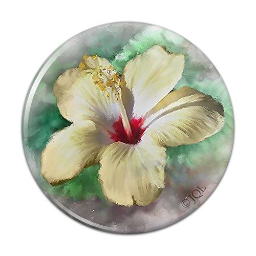 Tropical Yellow Hibiscus Flower Hawaiian Vacation Compact Pocket Purse Hand Cosmetic Makeup Mirror - 3