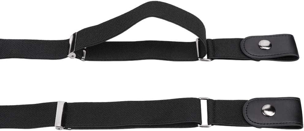 DAIFA Ceinture extensible sans boucle unisexe avec barre m/étallique coulissante r/églable ceintures /élastiques multifonctions pour femmes et hommes