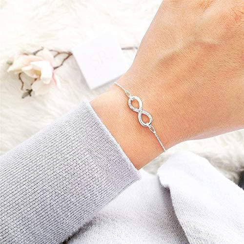 Infinity Armband 925 Silber Geschenkbox personalisiert Brautmutter Geschenk Trauzeugin Hochzeit