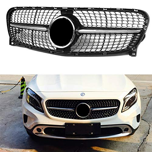 Diamond radiator style front bumper mesh grille grill for Mercedes Benz GLA class X156 W156 2014-2016