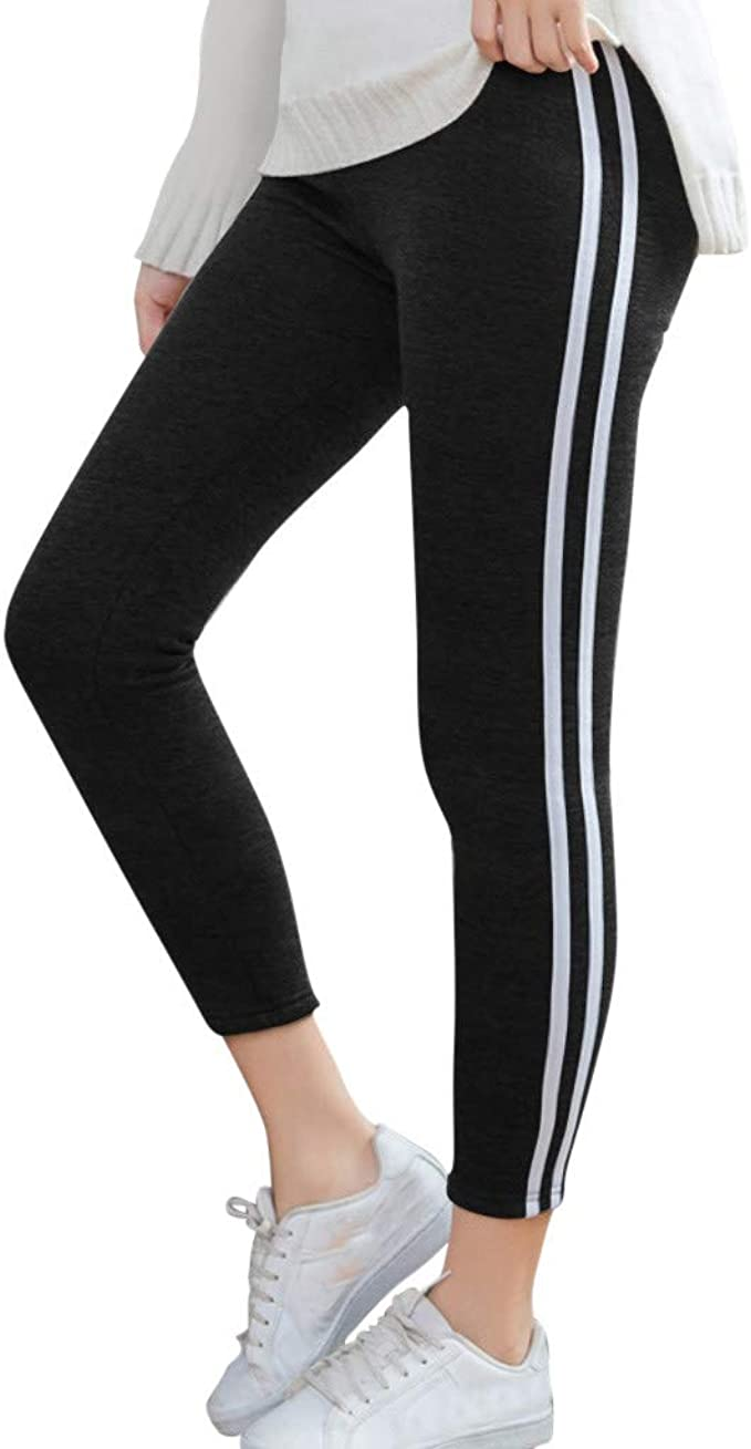 F/_Gotal Womens Yoga Pants High Waist Tummy Control Solid Color Stretchy Workout Leggings Athletic Gym Jogger Sweatpants