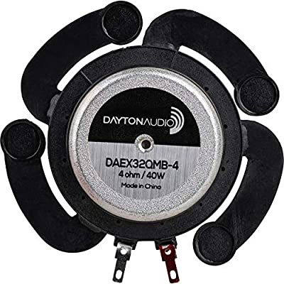 Dayton Audio DAEX32QMB-4 Quad Feet Mega Bass 32mm Exciter 40W 4 Ohm: Industrial & Scientific