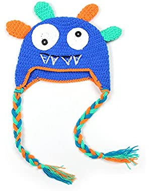 Cute Monster Style 0-3 Month Baby Toddler Knit Crochet Photo Shoot Hat Cap