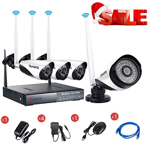 CANAVIS HD 1280×720 Res CCTV Wireless Wifi 1MP Security Network Camera System