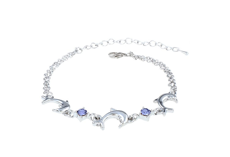 Fashion Crystal Dolphin Bracelets Womens