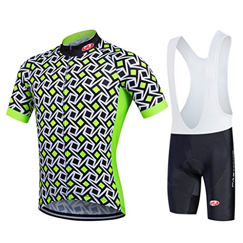 - FASTCURE Pro Team Men's Short Sleeve Cycling Jersey and 3D Padded Bib Shorts Set Size XL