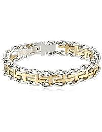 Men's Stainless Steel Railroad Bracelet
