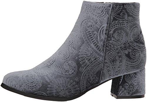 Ankle Ice Blue Velvet Vel Qupid Embossed Bootie Boot Women''s zx1wqtZ