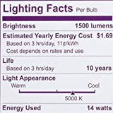 Philips LED Non-Dimmable A19 Frosted Light Bulb: 1500-Lumen, 5000-Kelvin, 14-Watt (100-Watt Equivalent), E26 Base, Daylight, 8-Pack
