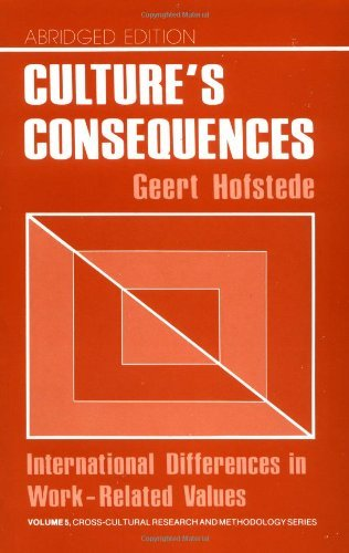 Culture's Consequences: International Differences in Work-Related Values:2nd (Second) edition