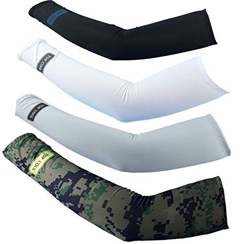 4pairs Cycling ,Movement ,Golf,baseball,Football,Running,adults ProtectsUV Cover Arm Sleeves Cooling
