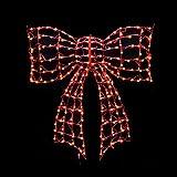 Celebrations 4401084uac Christmas Decoration Led Bow, Red
