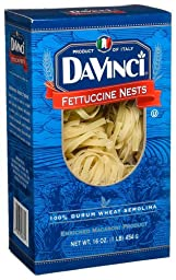 DaVinci Pasta, Fettuccine Nests, 16 Ounce Bags (Pack of 12)