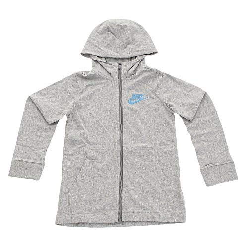 Nike Boys' Sportswear Full-Zip Hoodie (Gray,X-Large)