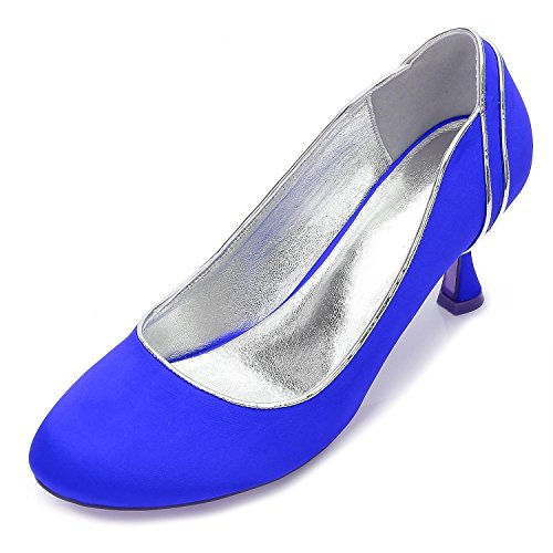 Plate Blue Hauts 48 Femmes De 17061 Cour Pompes Dames yc forme L Talons À Mariée Escarpins D Mariage Bal qw87EEU1