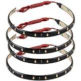 4 X Bande Eclairage Flexible Lampe 15 LEDs 30cm 12V Etanche Rose