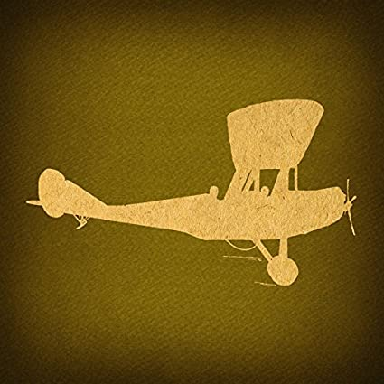 Amazon.com: Vintage Airplane Silhouette Print for Wall Art & Classic ...