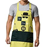 Kitchen Aprons Chef Cooking Baking - Famgem Professional Bib for Men, Women, Grill, BBQ, Outdoor, Camping, Home / 100% Cotton, 3 Large Pockets, Adjustable