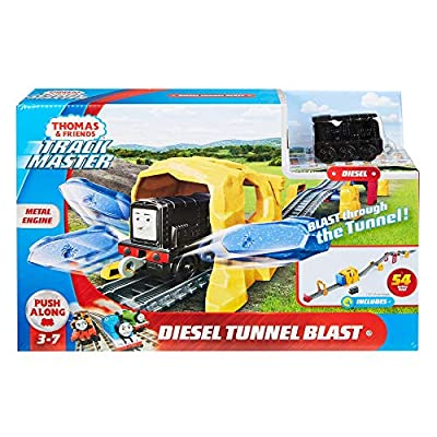 Thomas & Friends Fisher-Price Diesel Tunnel Blast Train Set: Toys & Games