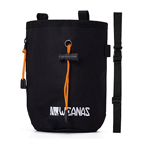 Weanas Climbing Chalk Bag with Belt and Zippered Pocket for Climbing