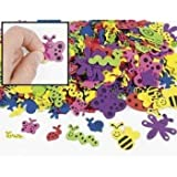 500 assorted bug shape foam self adhesive craft stickers