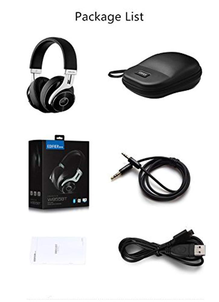 Edifier W855BT Bluetooth Headphones with Microphone, Hi-Fi Stereo Deep Bass Wireless Headphones Over Ear, Soft Earmuffs with Wired Mode for iPhone/Ipad/PC/Cell Phones/TV Travel Work Sports - Black by Edifier (Image #7)
