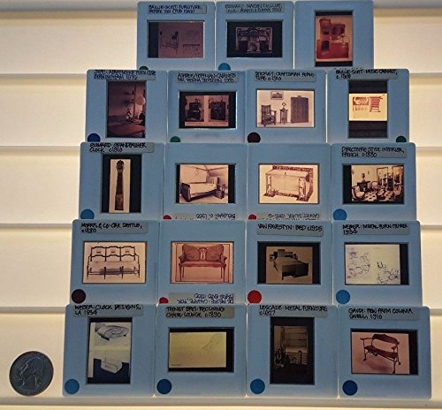 19 Vintage VARIOUS FURNITURE Architecture 35mm Picture Slides from Unknown