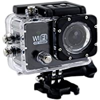 Findway [New Versoin Digital Waterproof Diving Camera] SJ6000 Wifi Version Digital Sports Video Camera 2 Inch LCD Screen 12.0MP HD 1080P Waterproof with Multi_languages for Car DVR Diving Home Security (Black)