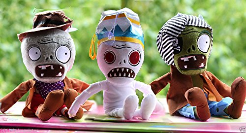 Shalleen 3X Plants vs Zombies II Soft Plush Toys baby dolls Zombie 12