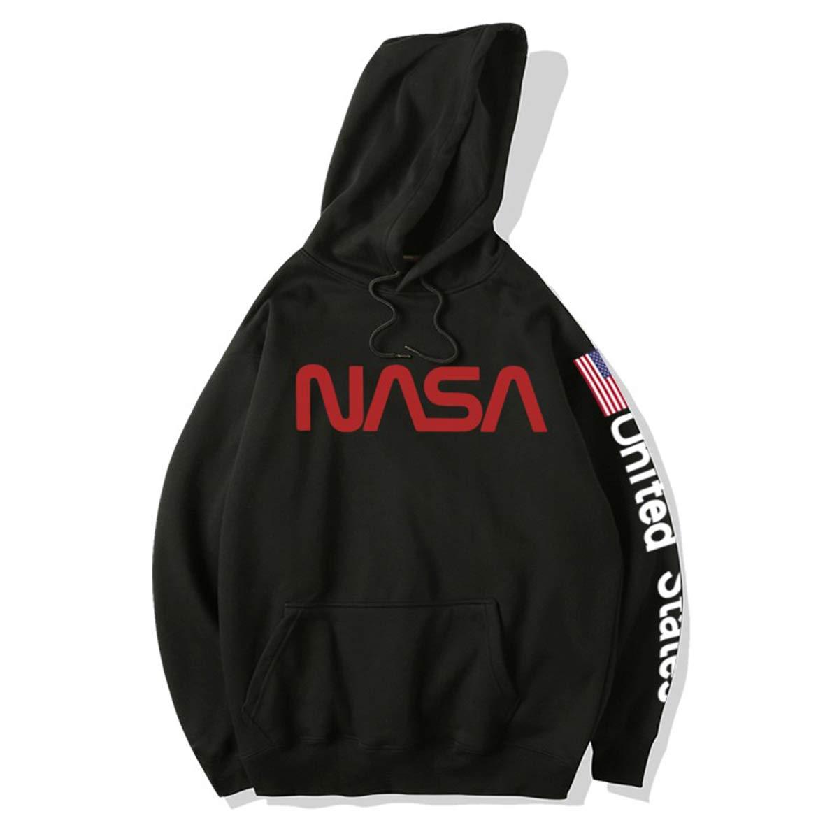 LLO NASA Maglione Mars Rescue Astronaut Spaceman Cappotto Felpe con Cappuccio a Manica Lunga da Uomo Felpa con Cappuccio Uomo Donna con Cappuccio Plus Size Coat Jacket,Grey,S
