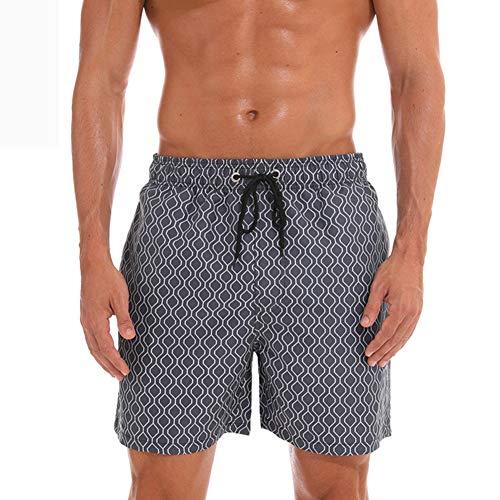 Pantaloncini Grigio Uomo Spiaggia Da Casual Lx7 TxqdcOFwT