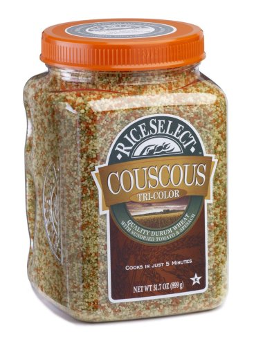 RiceSelect Tri-Color Couscous, 26.5-Ounce Jars (Pack of 4) by RiceSelect
