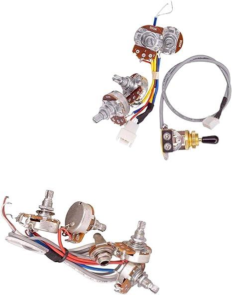 2 Juegos De Circuito Completo Kit De Cableado 2V 2T Control Pots ...