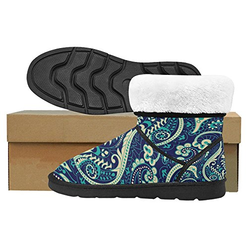 InterestPrint Womens Snow Boots Unique Designed Comfort Winter Boots Floral in Paisley Style Multi 1 I35CUYa