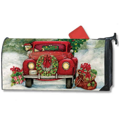 Bringing Home The Tree Large Christmas Mailbox Cover Oversized Mailwrap Holiday by Studio M (Image #1)