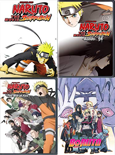Naruto Shippuden: 4 Movie DVD Collection (Bonds / The Will of Fire and More)